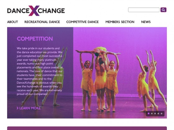 danceXchange web site redesign
