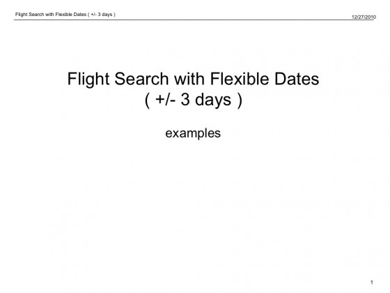 Protected: Presentation : Research : Flexible Dates Flight Display